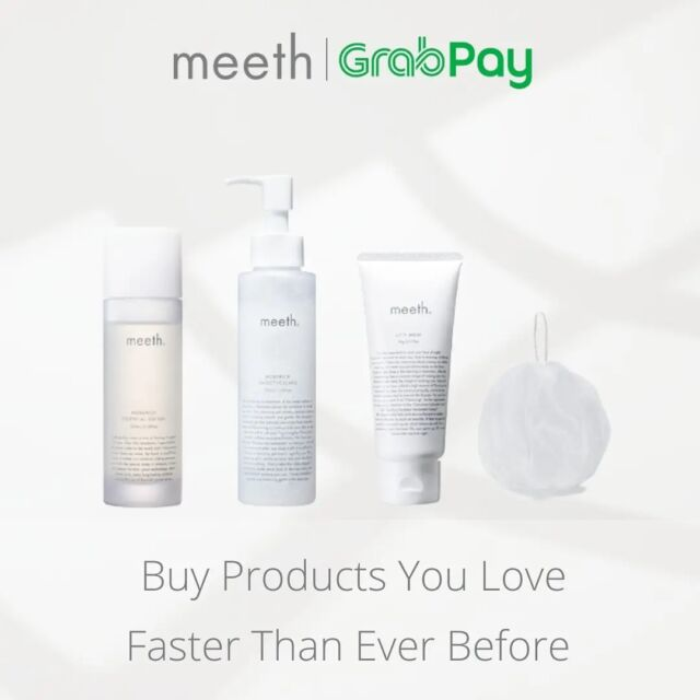 Good news for our Singaporeans! meeth have partnered with @grab_sg to make online shopping faster than ever before.  Shop online with GrabPay now, Pay the way you want!  #meeth #meethglobal #skincare #japaneseskincare #luxuryskincare #kindtoskin #beauty #skincareproducts #glowing #skin #selfcare #precious #loveyourskin #Grabpay #Grabpaysg #Grabpaylover #onlineshopping #onlinepayment #grab #grabsg #GrabforGood
